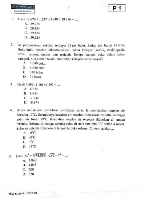 Soal Ujian Matematika Kelas 6 2020 Ilmusosial Id