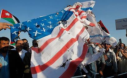Israel Matzav: Protesters in Amman burn American, Israeli flags