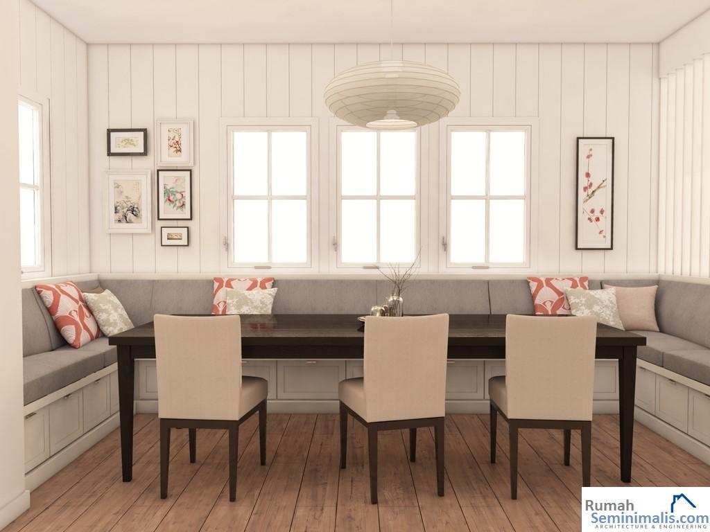 Denah Model Desain Gambar Rumah Minimalis Idaman Modern Tipe 54
