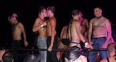 A kiss at the Leather Party