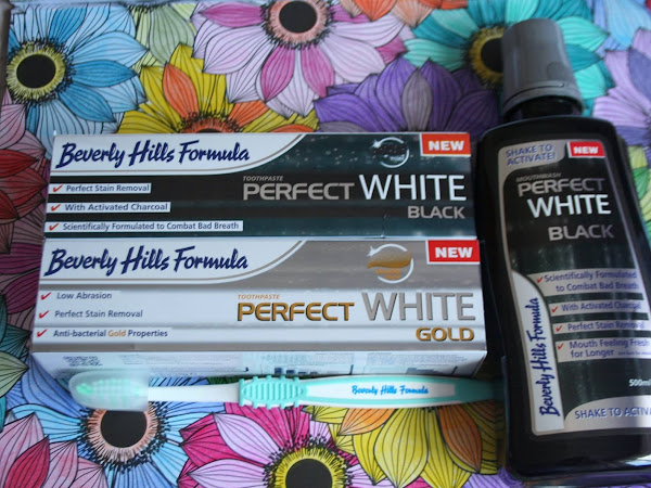 Beverly Hills Perfect White Black Toothpaste and Mouthwash