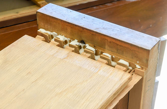 How to repair dovetail drawers