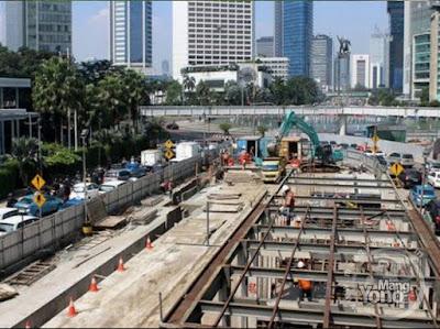 Pembangunan konstruksi MRT Jakarta