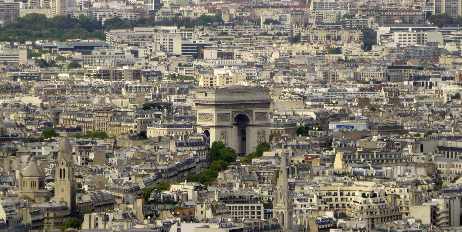 Image result for arc de triomphe arch top view