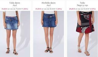 Faldas desigual en oferta