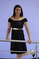 Mannara Chopra in Short Off Shoulder Black Dress ~  Exclusive 008.JPG