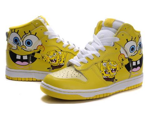 High Tops Nike Sb Dunk Spongebob Nike Cartoon Custom Sb Dunks High Tops Sneakers