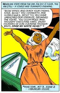 Storm des X-Men cite Shakespeare pour invoquer la tempête