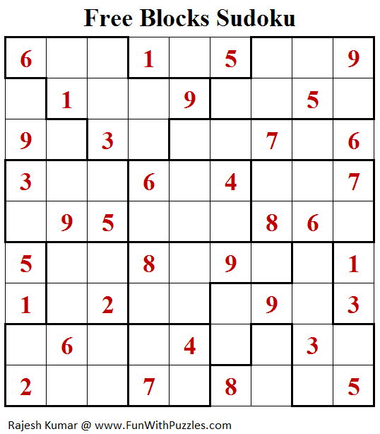 Free Blocks Sudoku (Daily Sudoku League #145)