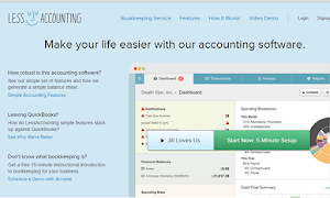 LessAccounting is simple to use and less complicity