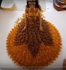 DIY Fita Decorativa - Passo a Passo PAP vídeo boneca feita com fitas decorativas