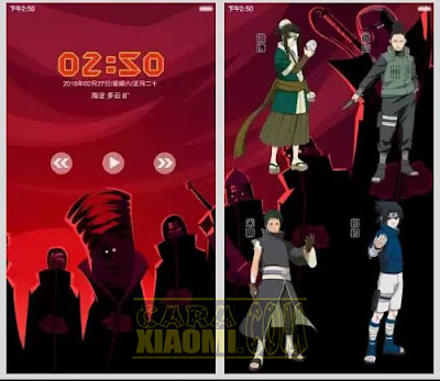 download Kumpulan Tema Naruto For Xiaomi MIUI Mtz Update Themes Terlengkap