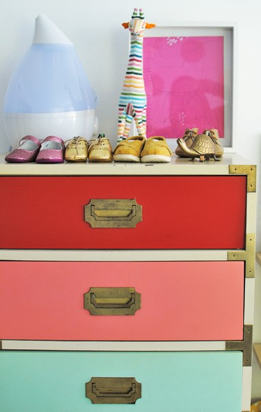 dresser drawers into ombre inspirational color different colored perspective painted drawer of put with dressers