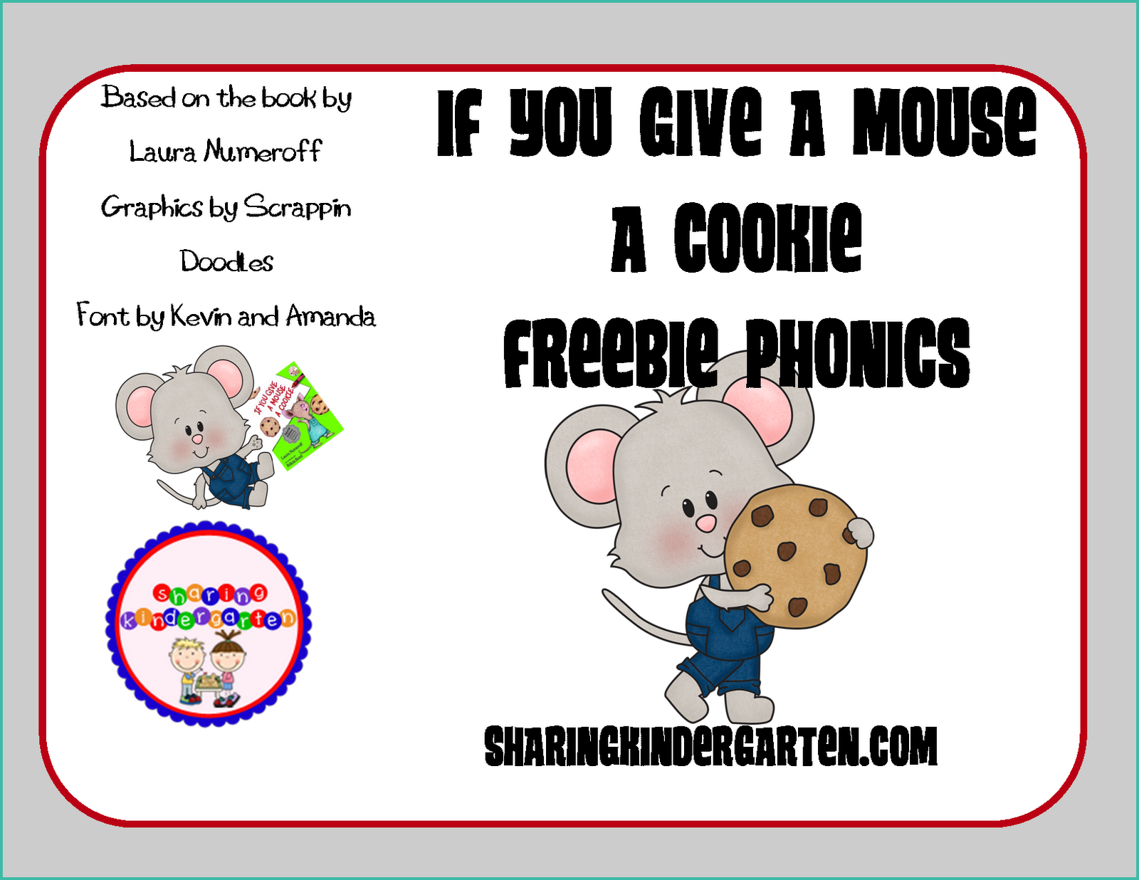 Classroom Freebies Too If You Give A Mouse A Cookie Freebie