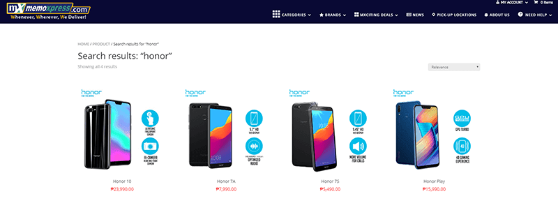 MemoXpress now has Honor devices on stock