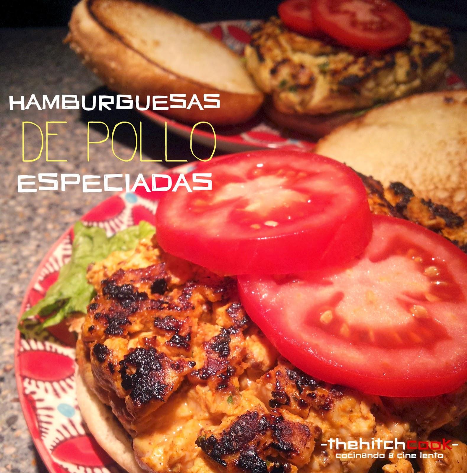 Hamburguesas de pollo especiadas