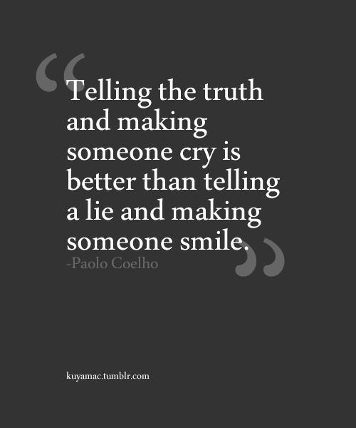 Lying vs. Telling the Truth
