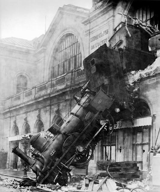 El descarrilamiento de Montparnasse en 1895
