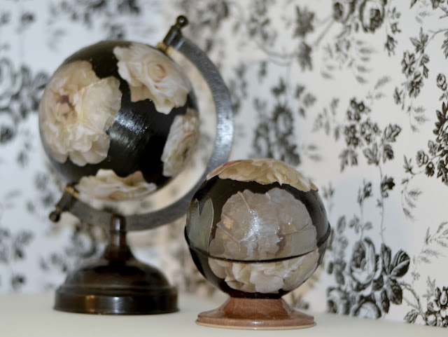 DIY flower globe