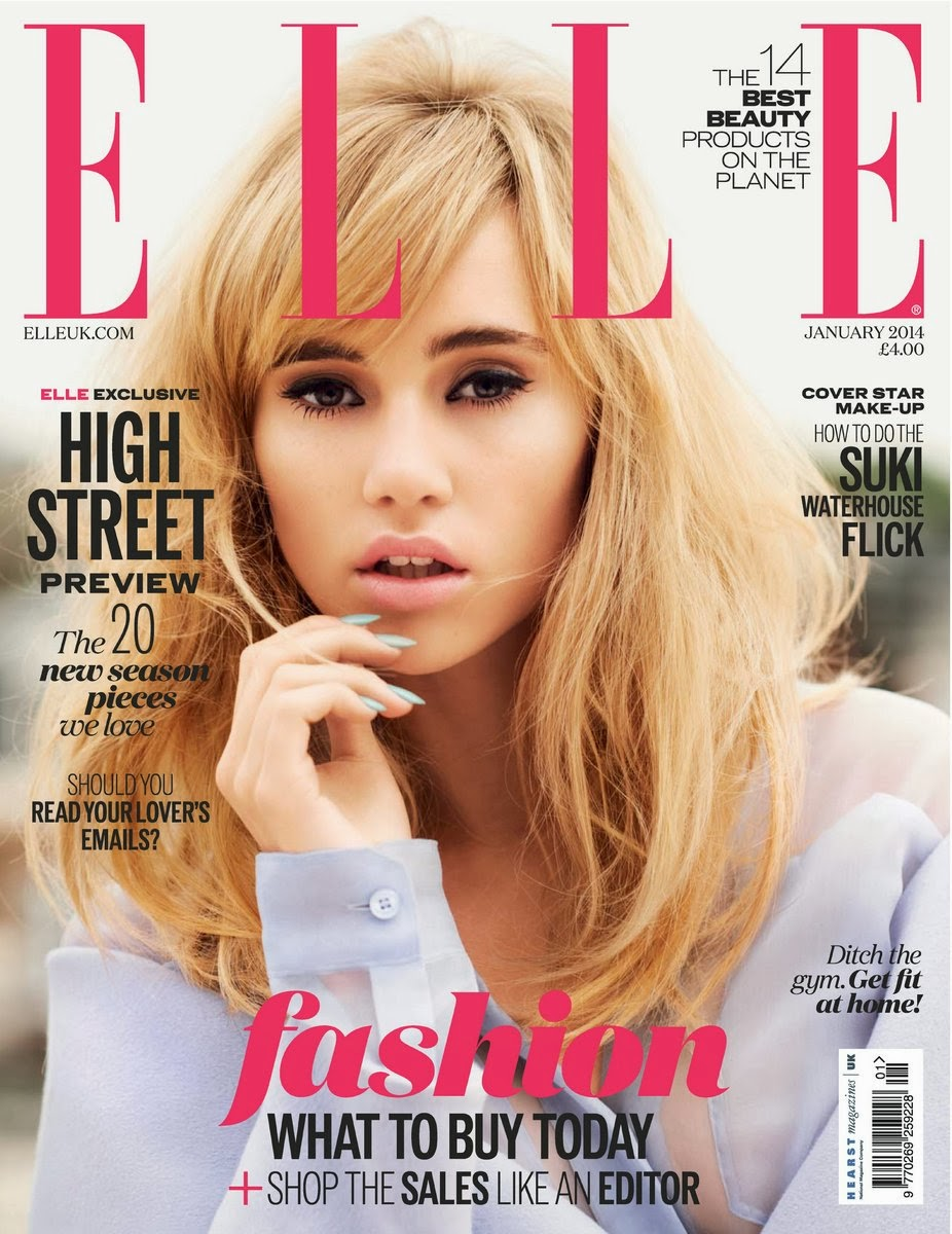 Elle Magazine France February March: The Charmer Pages : Suki Waterhouse