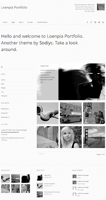 Loenpia Portpolio Responsive Blogger Templates