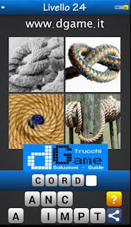 Trova la Parola - Foto Quiz con 4 Immagini e 1 Parola pacchetto 1 soluzione livello 24
