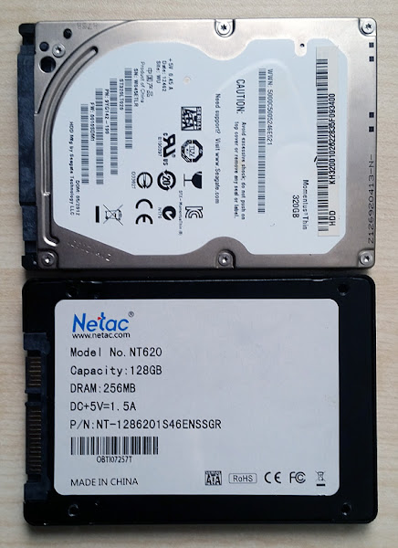 Seagate 320GB HDD и Netac NT620