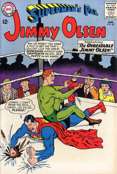 Episode #378 Part V: Superman Family Comic Book Cover Dated January 1965: Superman's Pal Jimmy Olsen #82!