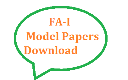 Formative Assesment Model CCE Question Papers Download for AP and TS