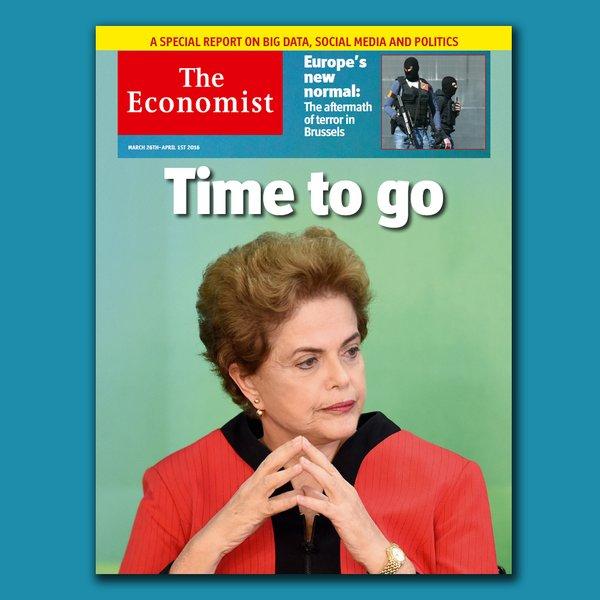 """""""The Economist"""" diz que Dilma """"se tornou inapta"""" para o exercício do cargo"""