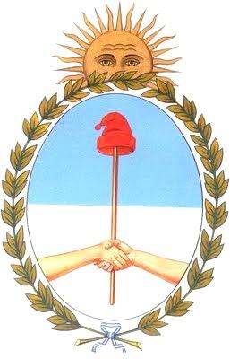 Dibujo del escudo de Argentina para niños