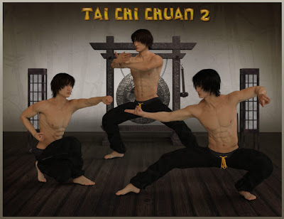 Tai Chi Chuan Poses for Lee 7 and Genesis 3 Male