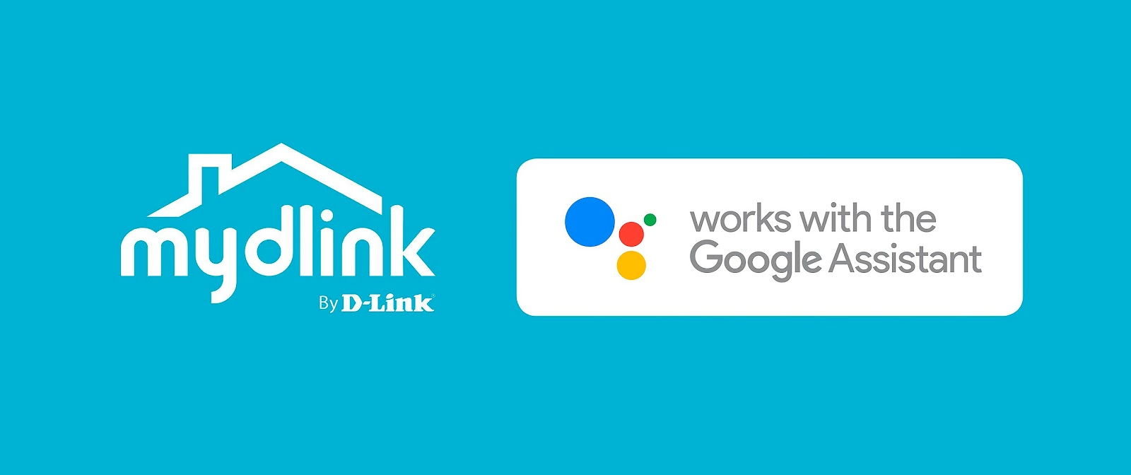 D-Link and the Google Assistant Logo