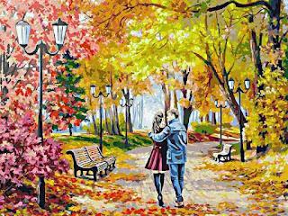 Золотой осенний парк картинка