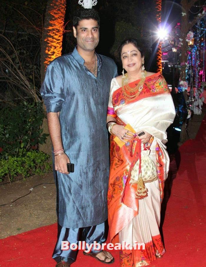 Sikander Kher, Kirron Kher, Ahana Deol Wedding & Reception Pics