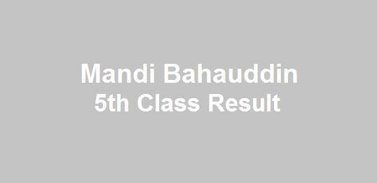 Mandi Bahauddin 5th Class Result 2019 - BISE PEC Mandi Bahauddin Board 5th Results