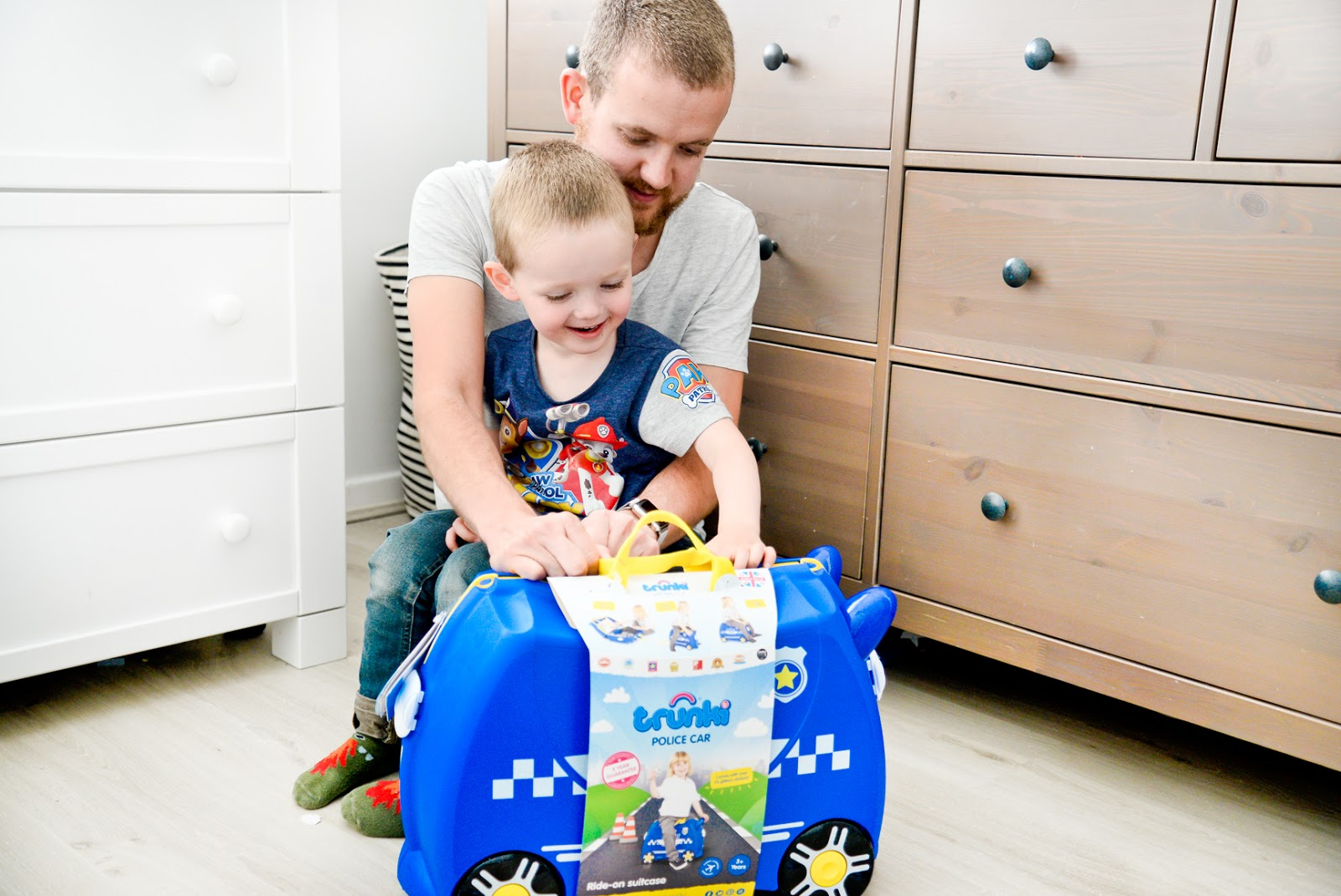 Percy the Police Car Trunki, police trunki, trunk review, trunk giveaway