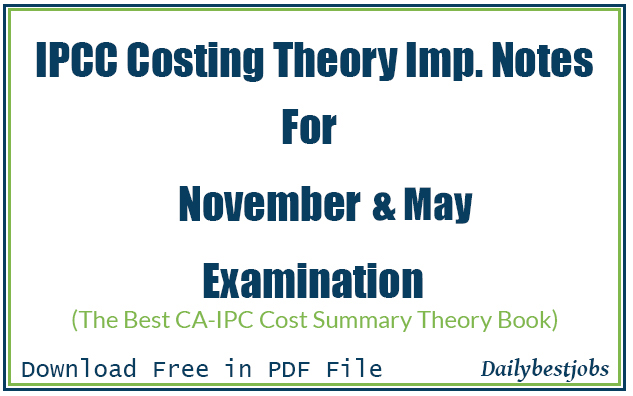 ipcc costing theory notes