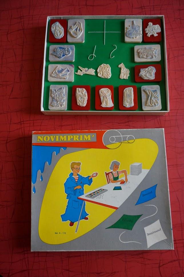 vintage imprimerie novimprim années 60 1960s 60s printing ink pad stamp