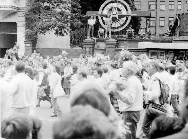7 июля 1990 года. Рига. На улице Бривибас (Ленина). Праздник песни (фото из архива: aldoniskraulis)