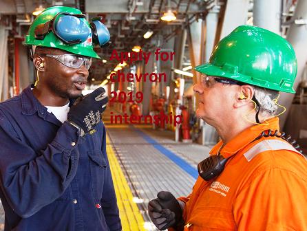 Apply for 2019 July - December Chevron Internship Placement