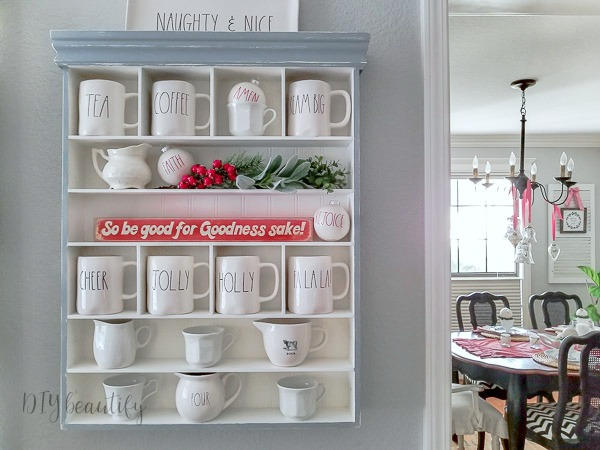 Rae Dunn mug display