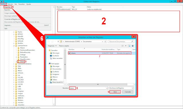 Importar archivo de Registro