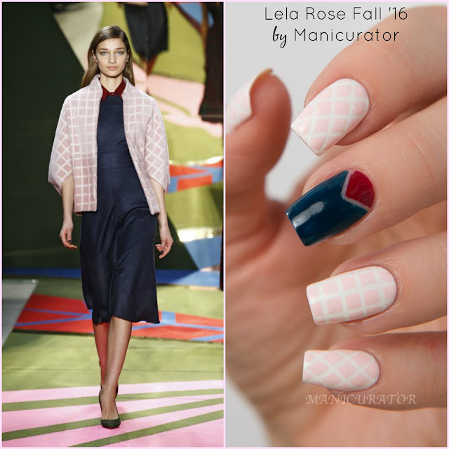 Lela-Rose-Fall-2016-Nail-Art-OPI-Infinite-Shine-Whats-Up-Nails