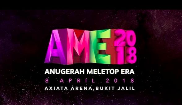 Senarai Penuh Calon Top 5 Anugerah Meletop Era 2018