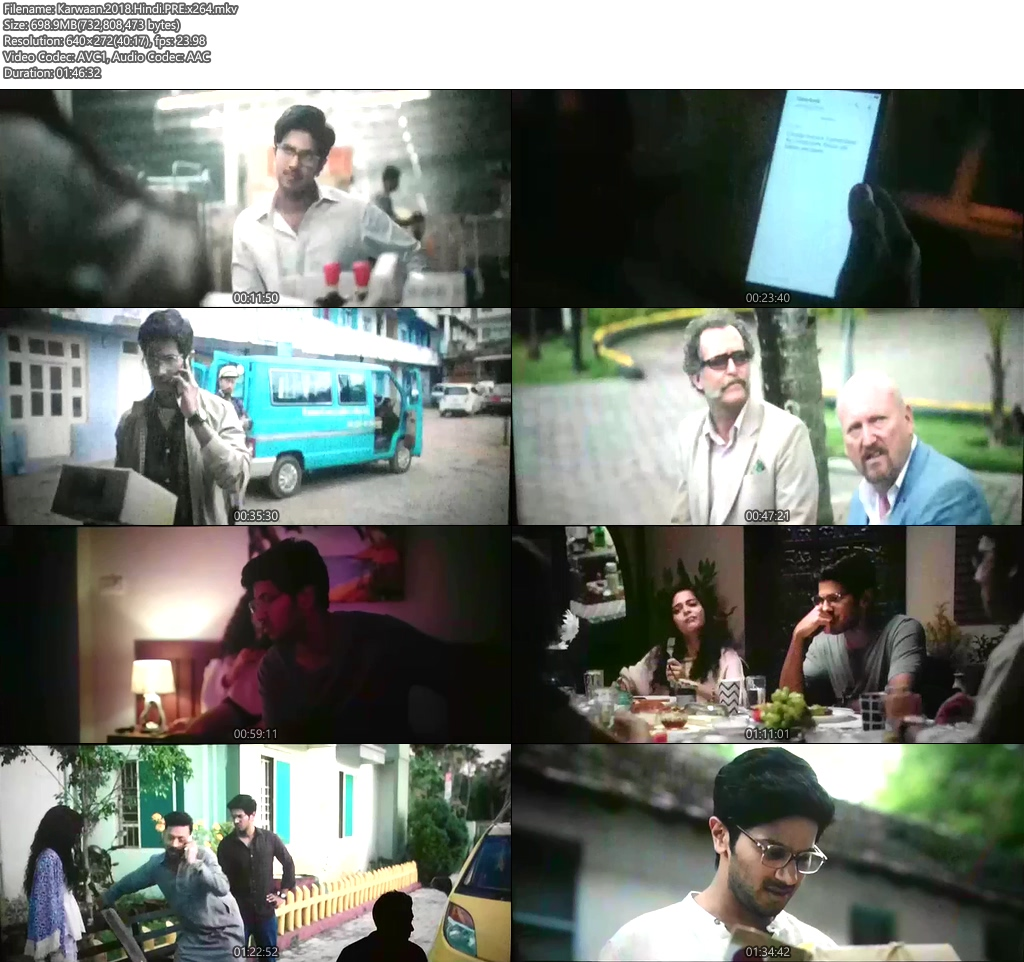 Karwaan 2018 Hindi PREDvD x264 | 480p 300MB | 100MB HEVC Screenshot