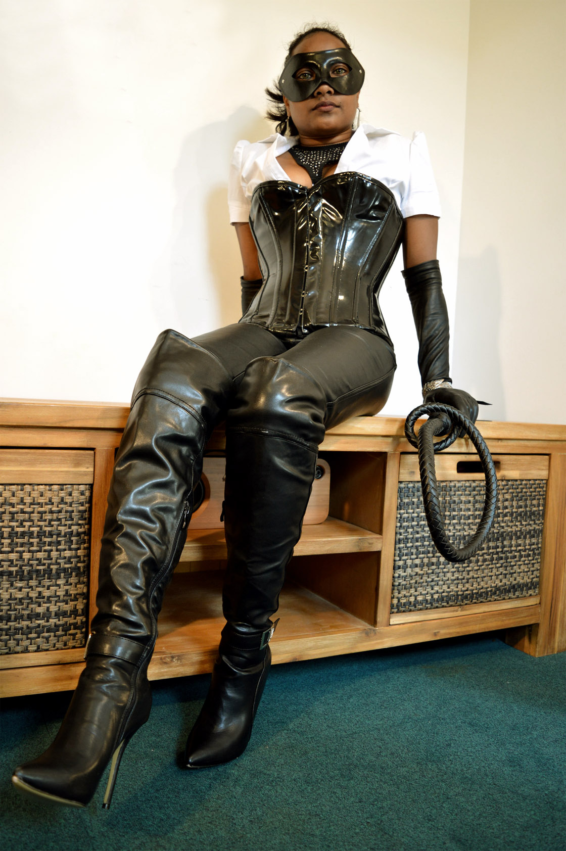 Leather thigh high boots - my collection to date