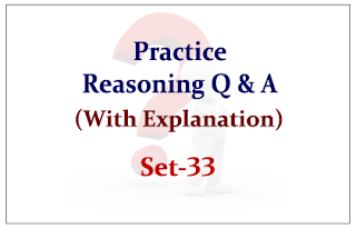 Practice Reasoning Questions (with explanation) for Upcoming IBPS RRB Exams 2015 Set-33