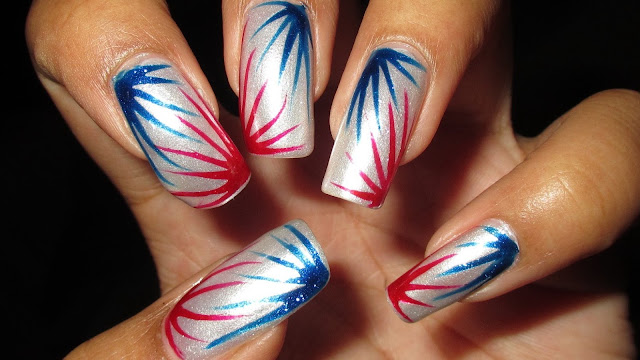 happy 4th of July 2017 nail arts