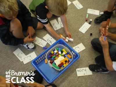 Math center activities for Kindergarten students
